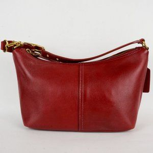 Vintage Coach Demi Model 9596 Red Leather Purse
